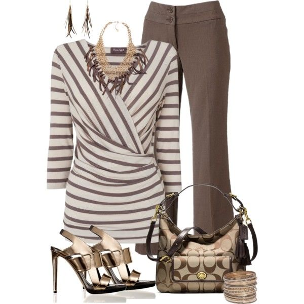 A fashion look from May 2013 featuring striped shirt, short pants and high heel shoes. Browse and shop related looks.