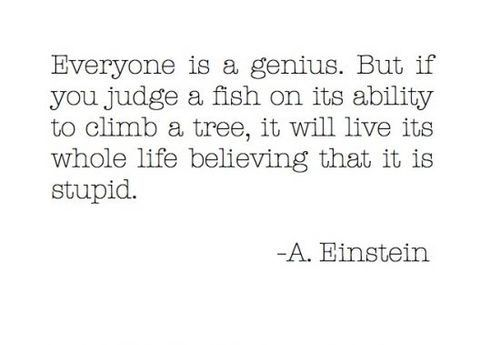 Everybody is a Genius | Powerful quote by Albert Einstein | www.republicofyou.com.au