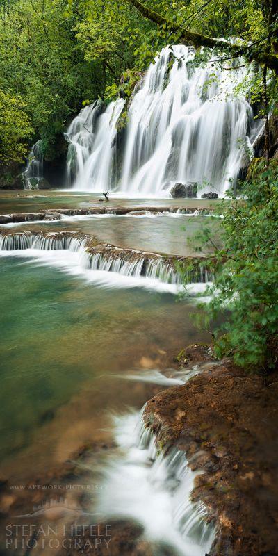 Cascade de Tuf, Cuisance river near Arbois in the Jura Mountains, France.  Photo: Stefan Hefele, via 500px
