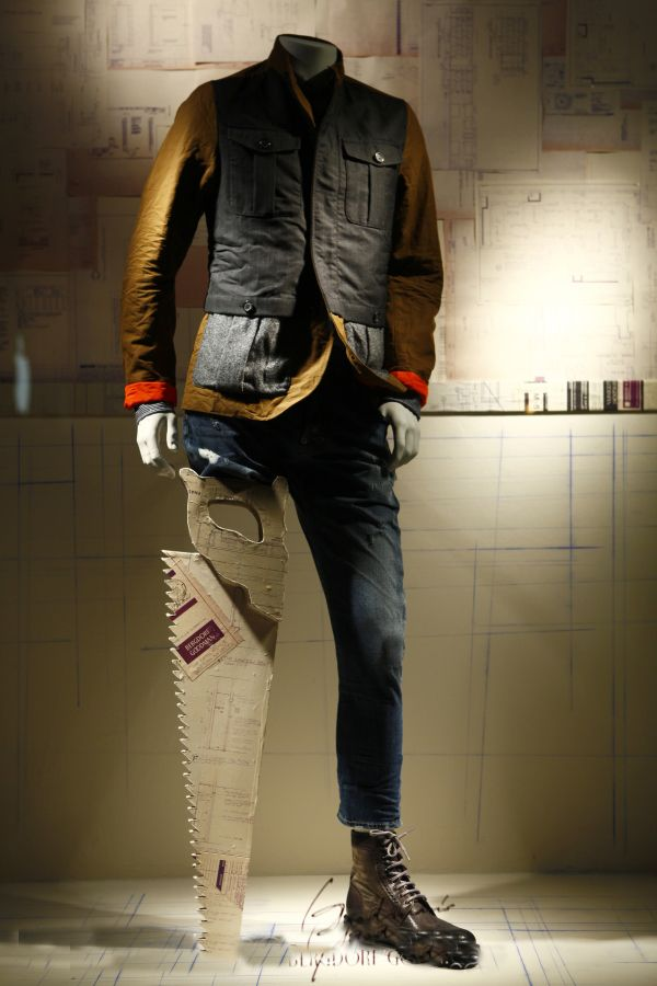 window store display, Bergdorf Goodman, NY, August 2014