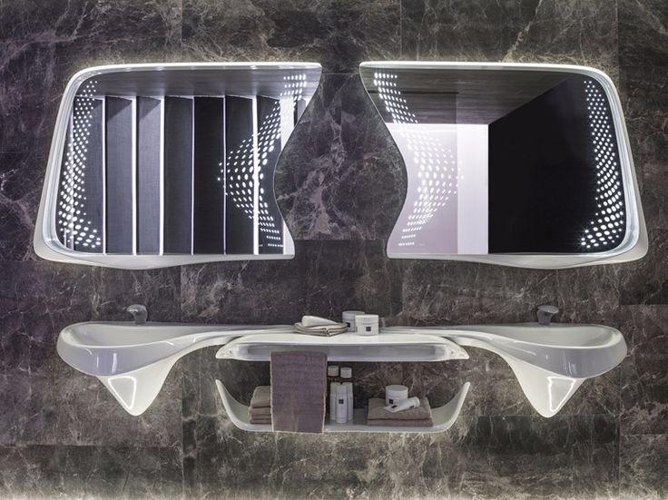 VITAE Lavatório duplo by NOKEN DESIGN design Zaha Hadid Architects
