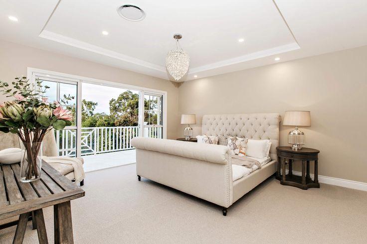 Hamptons style master bedroom