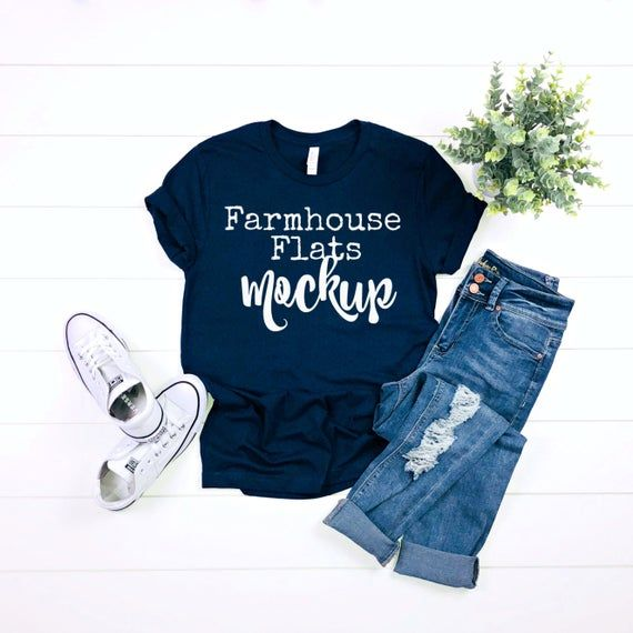 Download Download Free T Shirt Mockup Bella Canvas 3001 Navy Mockup Psd Free Psd Mockups Clothing Mockup Shirt Mockup Mockup Free Psd