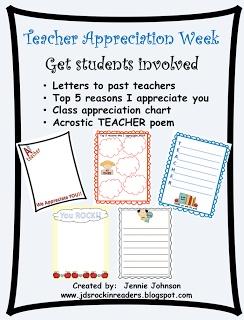 Classroom Freebies Too: Teacher Appreciation Freebie!