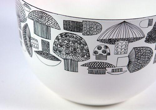 Mushroom bowl by Kaj Franck & Esteri Tomula.