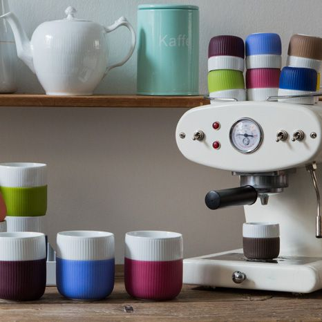 Fluted Contrast Mugs and Espresso cups