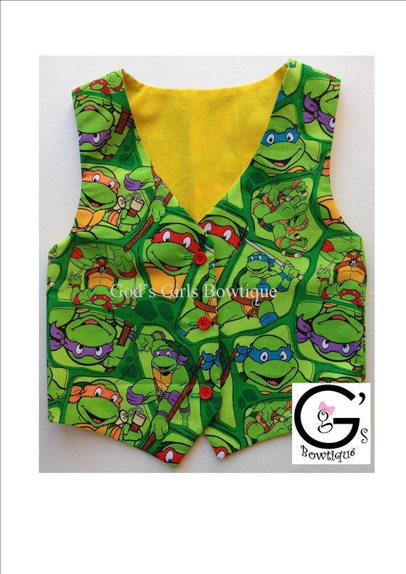 TMNT Teenage Ninja Turtles Bow Ties Boy by GodsGirlsBowtique