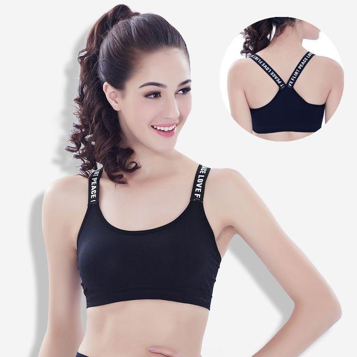 2017New Woman's Pro Padded Sports Bra Sportswear Spaghetti Strap Fast Dry Elastic For Yoga Fitness Running Sport Bra Top Push UP
