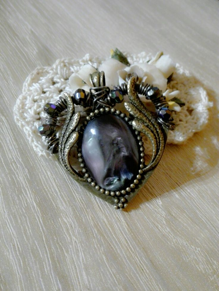 Maleficent Handmade Pendant    #pendant #maleficentinspiration #wired #beaded #ArtsBerry #cabochon #diy #handmade #jewelry