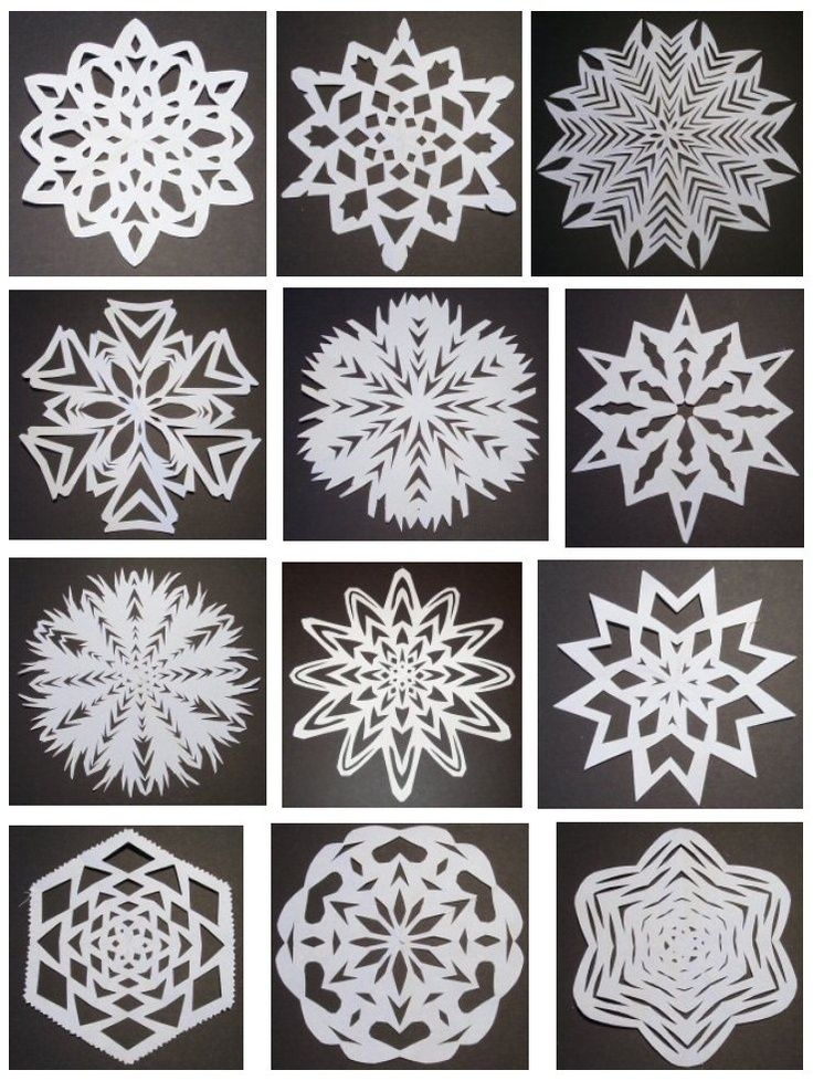 paper snowflake pattern The thought of making paper snowflakes may remind you of childhood memories of cutting out wonky, misshapen snowflakes only a mother could love while the concept.