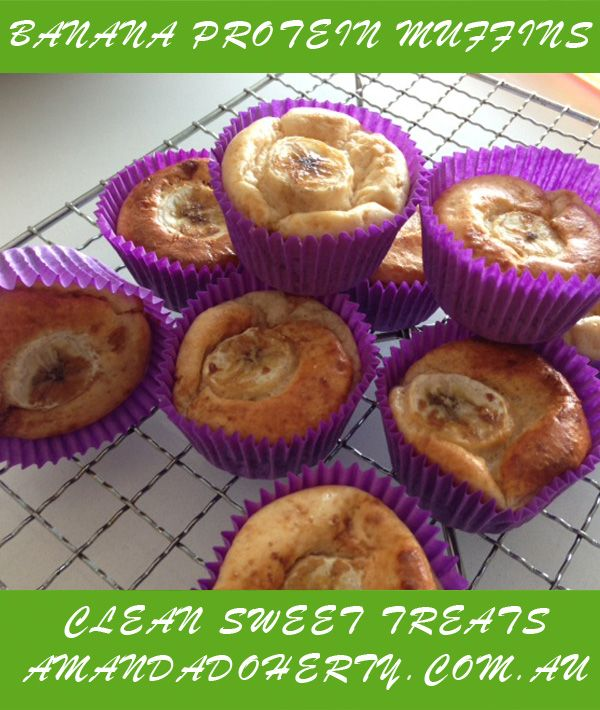 My Banana Protein Muffins...Yum! Part of my Clean Sweet Treats eBook. Get it at: http://www.amandadoherty.com.au