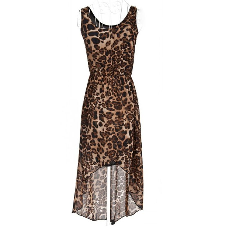 Pas cher 2015 date Hot femmes Summer Style mode Leopard Maxi o   cou robes fille en mousseline de soie sans manches encolure Sexy Party robe, Acheter  Robes de qualité directement des fournisseurs de Chine:                                       Attention s'il vous plaît:           1.   En raison de la