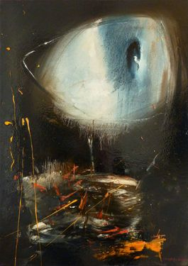 "Saatchi Art Artist GEORGE KARAFOTIAS; Painting, ""Eye"" #art"