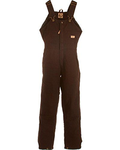 Berne Women's Washed Insulated Bib Overalls Regular Dark Brown SR. Triple-Needle Stitched Main Seams. Adjustable elasticized straps. Accessories not included.