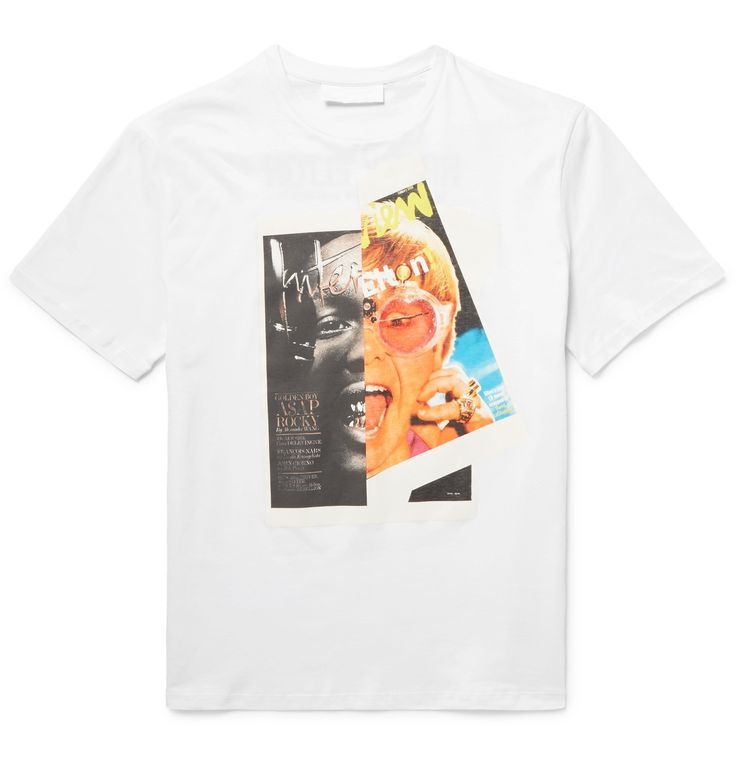 As a part of <a href='http://www.mrporter.com/mens/Designers/Neil_Barrett'>Neil Barrett</a>'s 'Hybrid Series', this cotton-jersey T-shirt is printed with 'Interview' magazine covers featuring A$AP Rocky and Mr Elton John. The brand has mashed-up the two photos to create one cool image. Keep it casual with sweatpants and sneakers.