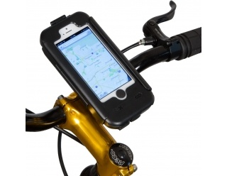 $39.95 iPhone 5 Waterproof Shock-Protected Bicycle iPhone Holder Mount * Waterproof * Install to stem or bar * 360-degree rotatable * Touchable screen * Soundboost Technology * Shock-protective silicon lining * Case-in-case for daily use * Camera-ready, charger-ready, headphones-readyhttp://www.bike2power.com/Bicycle-Mounts/bikeconsole-iphone-5-waterproof-bicycle-mount.html * + Much More