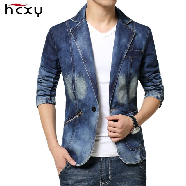 We love it and we know you also love it as well Casual Mens Denim Jackets nad coats Fashion High Quality Male jeans Blazer Single Breasted Cotton Denim Jacket for Men size 3XL  just only $32.24 with free shipping worldwide  #jacketscoatsformen Plese click on picture to see our special price for you