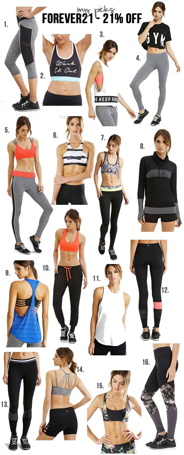 Forever21 has some super cute (affordable!) activewear