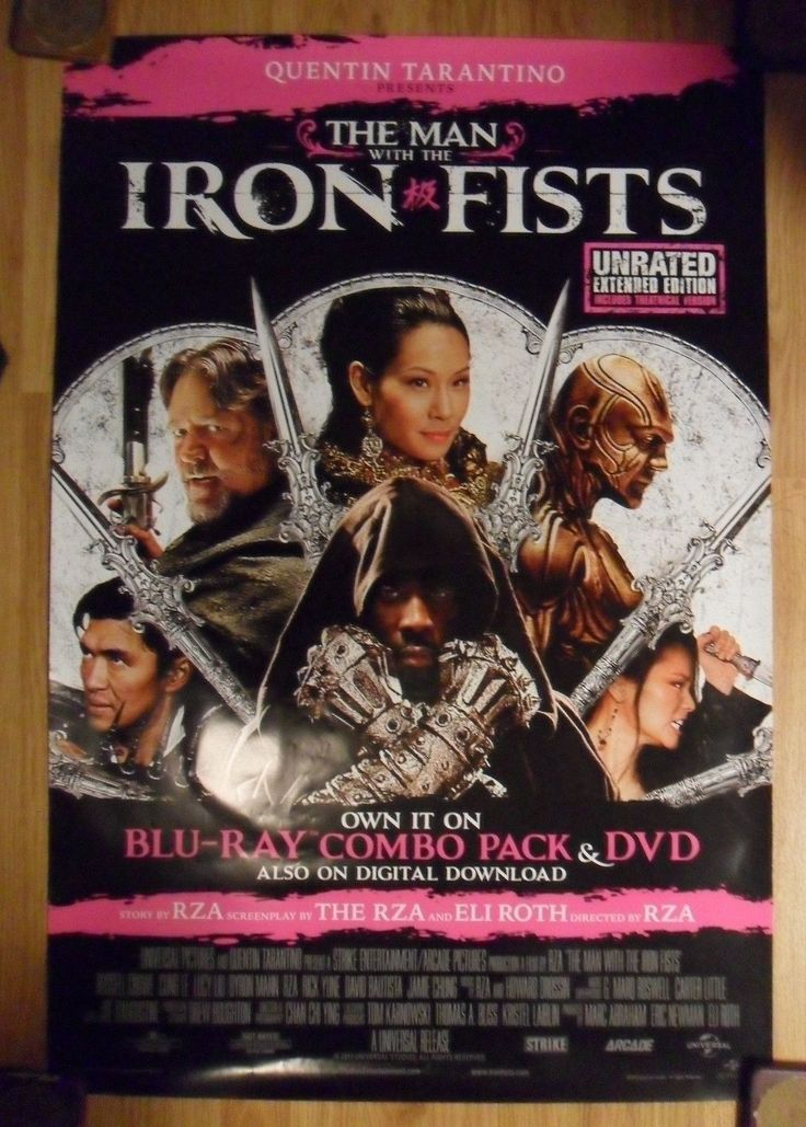 The Man With the Iron Fists Movie Poster 27X40 Used Russell Crowe, Byron Mann, Terence Yin, Betty Zhou, Chia Hui Liu, Pam Grier, RZA, Lucy Liu, Rick Yune, Daniel Wu, Dennis Chan, Cung Le, Andrew Lin, Jamie Chung, Mary Christina Brown, Ka-Yan Leung