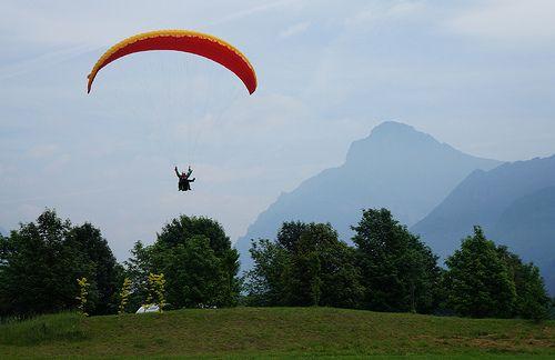 Paragliding in Valsabbia, Italy