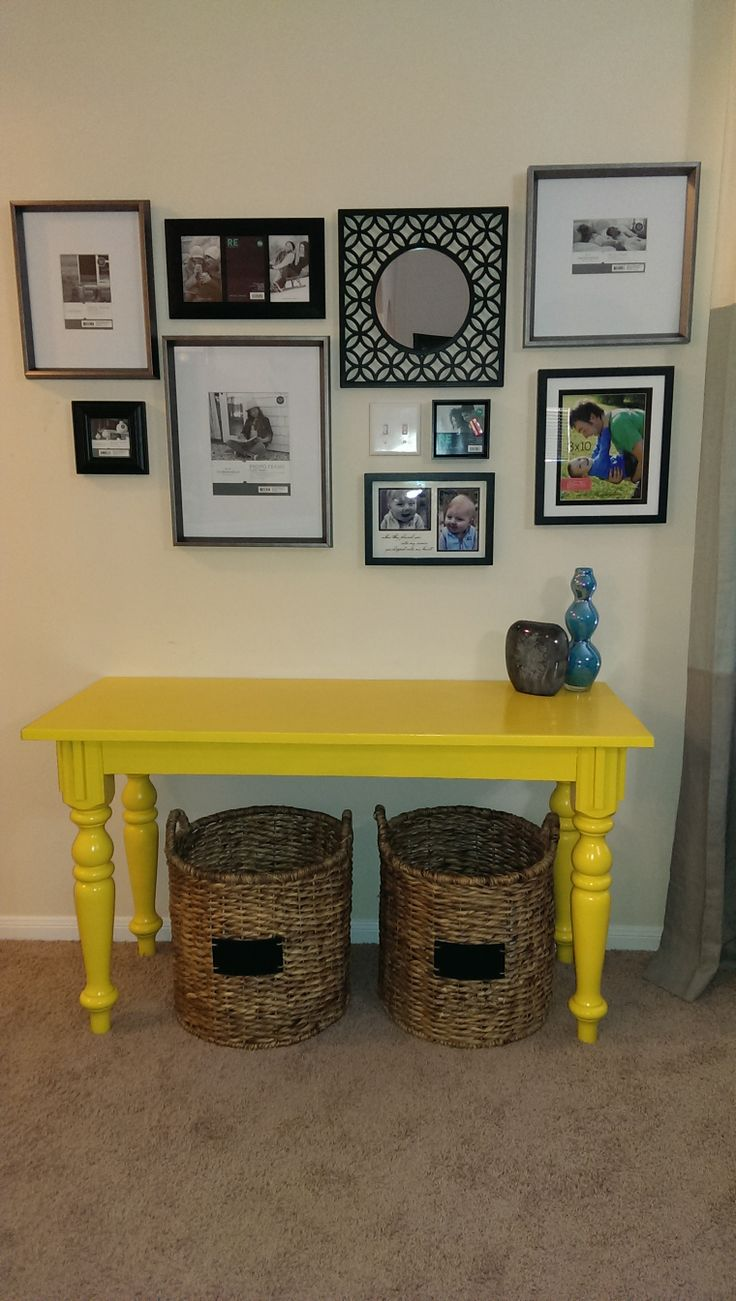 Living Room Wall Table 142 best new livingroom - gray + teal + yellow images on pinterest