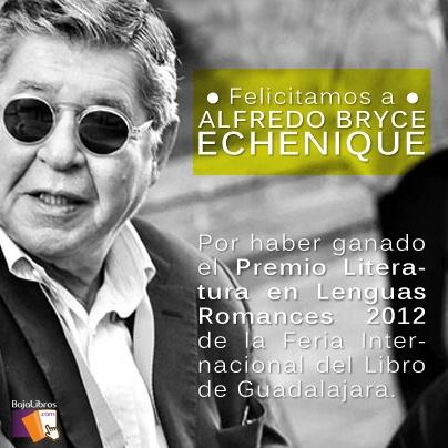 ¡Felicitamos a Alfredo Bryce Echenique por su Premio Literatura en Lenguas Rmances 2012!