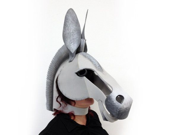 Donkey Mask Handmade. Midsummer Night's Dream. by TentacleStudio