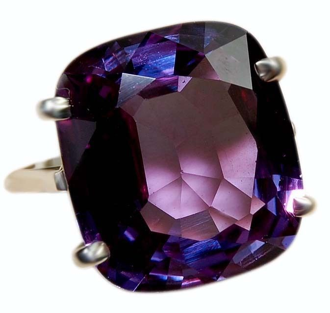 22CT Color Changing Alexandrite 925 Solid Genuine Sterling Silver Ring #affinitygold #Fashion