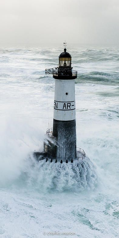 Ar Men lighthouse. Brittany by Charles Marion photographe