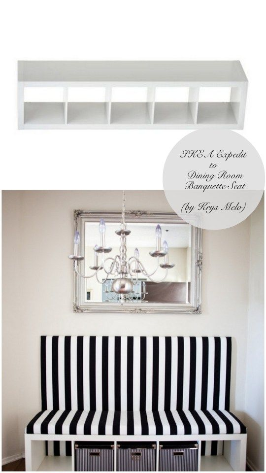 10 Totally Ingenious, Ridiculously Stylish IKEA Hacks // Live Simply by Annie. Ikea hack. Bench.