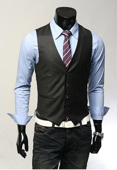 Slim fit vest.