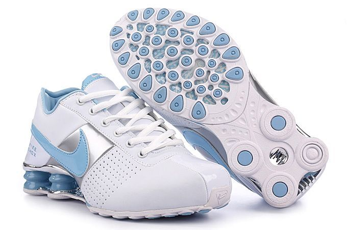 Nike Shox Deliver Women Shoes - White Blue Silver The outstanding outlook  of Nike Shox Deliver Women Shoes - White Blue Silver is also attractive …