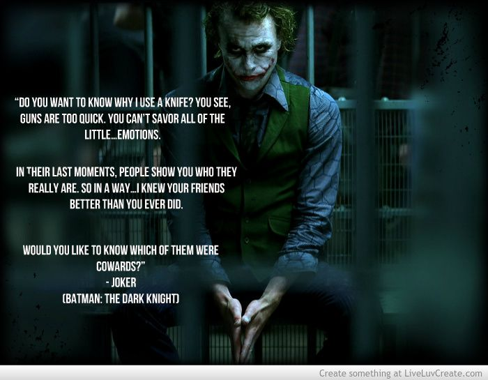The Dark Knight Quotes: Joker Quotes From Batman Dark Knight