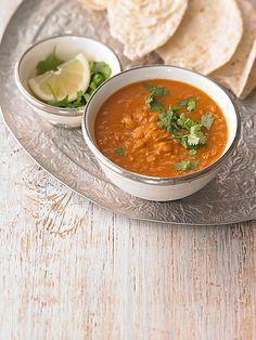 Rote Linsen Curry - Linsensuppe mit roten Linsen