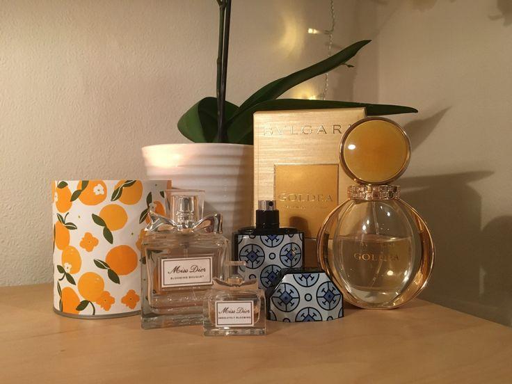 My Current Perfume Collection Dior, Stella Mccartney, BVLGARI.