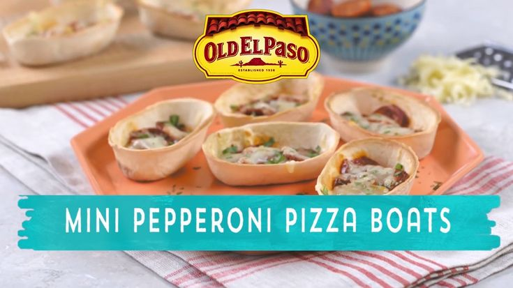 Pizza goes bite-sized in mini taco boats. Snack time or meal time in a snap!