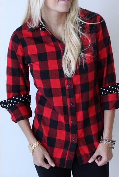 Mindy Mae's Market Fall Releases. Red and black flannel.
