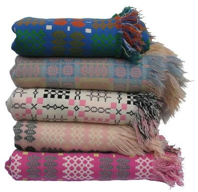 Vintage Welsh tapestry blankets