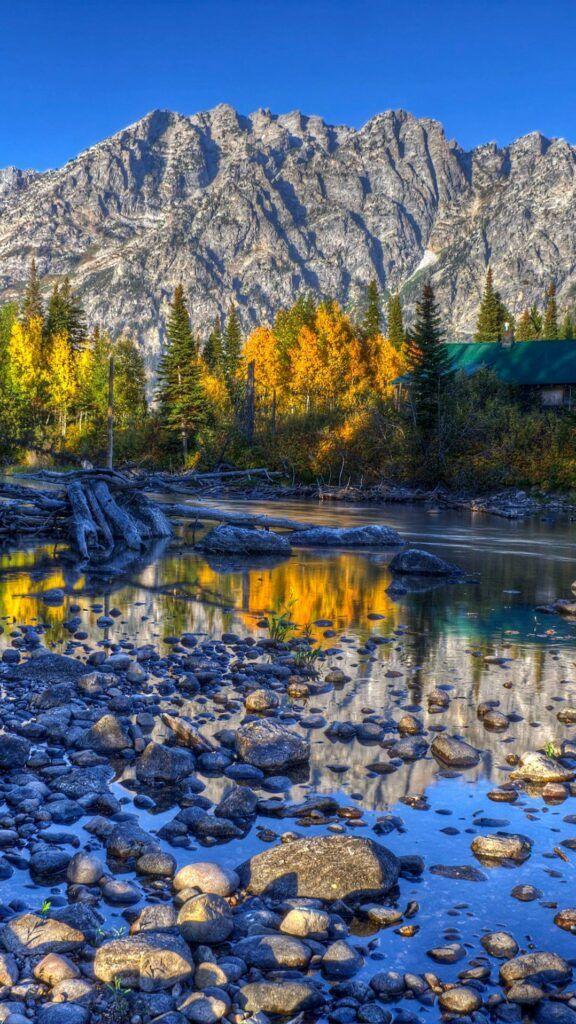 IPHONE WALLPAPER WYOMING USA MOUNTAIN LAKE RIVER K