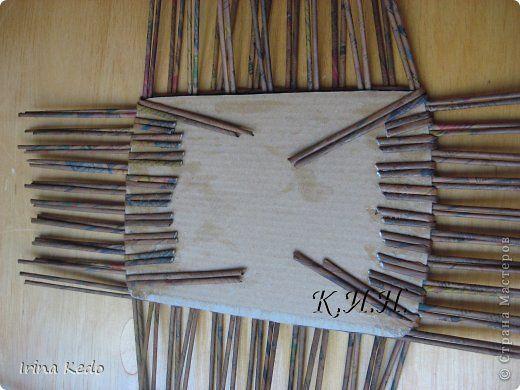 Поделка изделие Плетение Корзина и подставочки + мини мк дна и ручек в корзине Бумага Трубочки бумажные фото 9