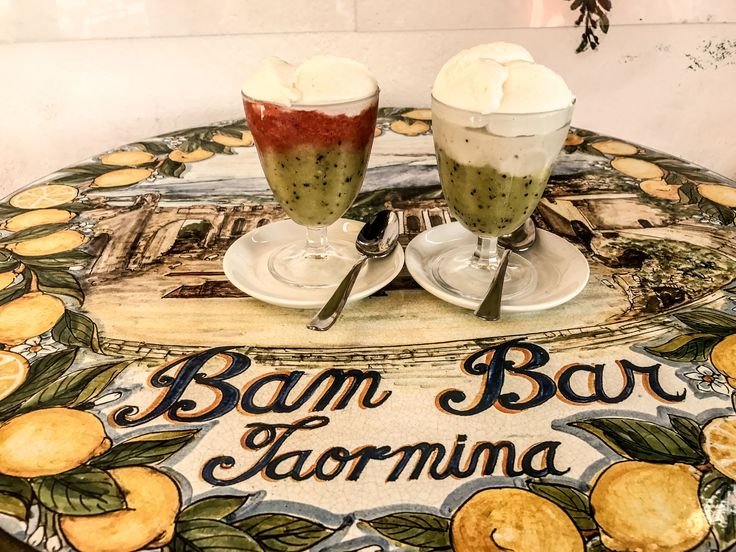 Bam Bar in Taormina is a must visit!