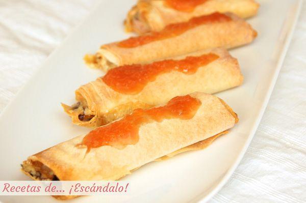 Sabrosa, sencilla, rápida y resultona esta receta crujiente con queso brie y dulce de membrillo casero. ¡El perfecto entrante para las ocasiones especiales!
