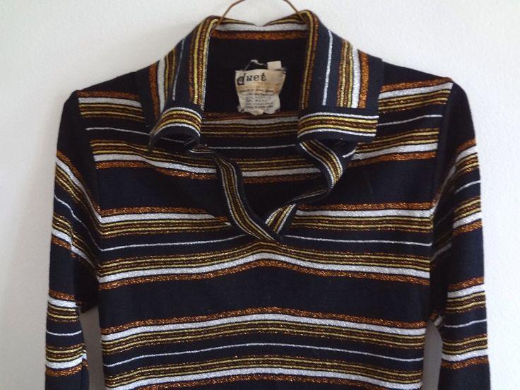 SWEATER SALE: 1970s Striped Black Metallic Sweater by DeerStopVintageHome on Etsy https://www.etsy.com/listing/61551928/sweater-sale-1970s-striped-black