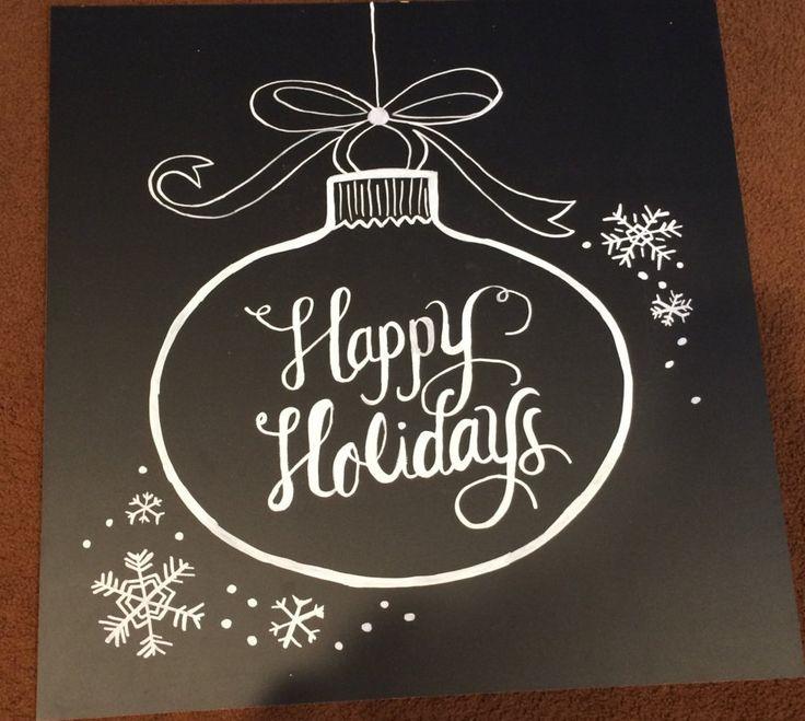 Happy Holidays Chalkboard Sign by BeautifullyChalked on Etsy