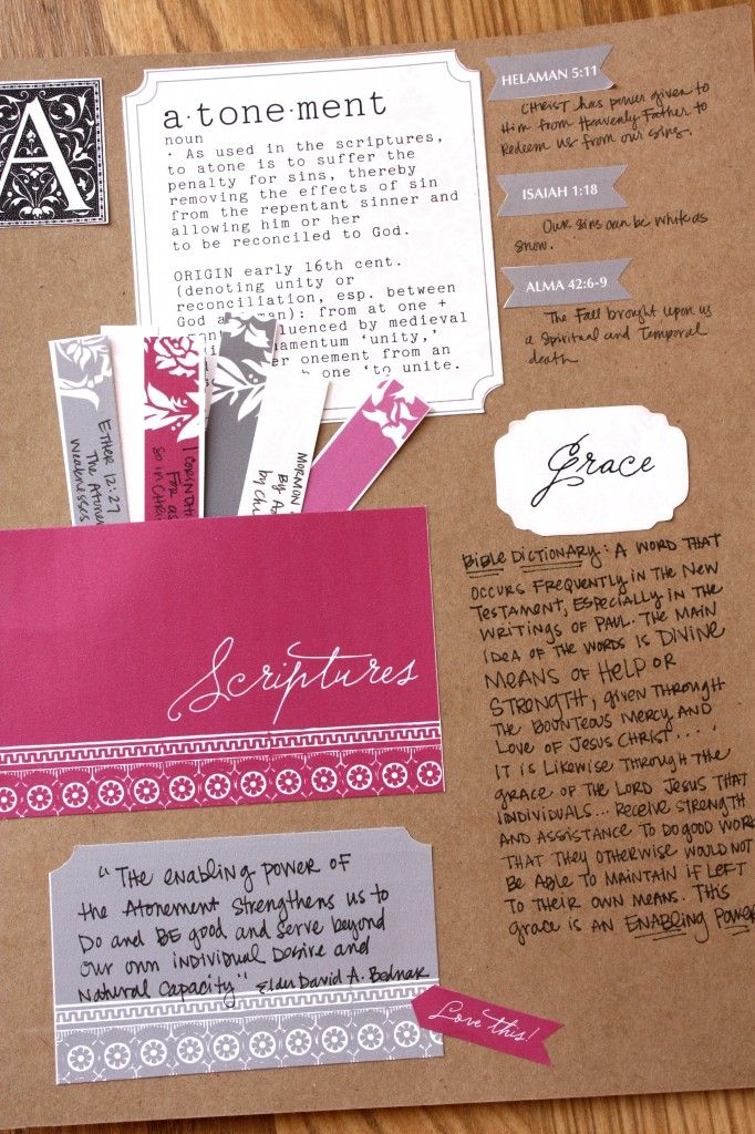 This is such a cute, organized way to study the scriptures by topic!!