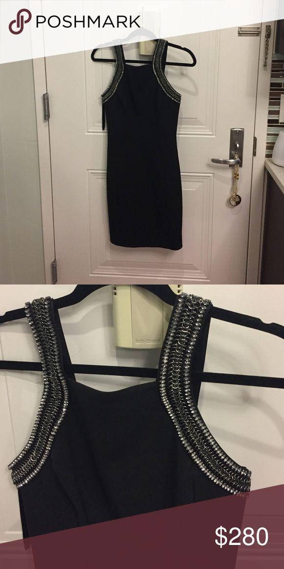 Ted Baker black dress Beading on straps Ted Baker Dresses Midi