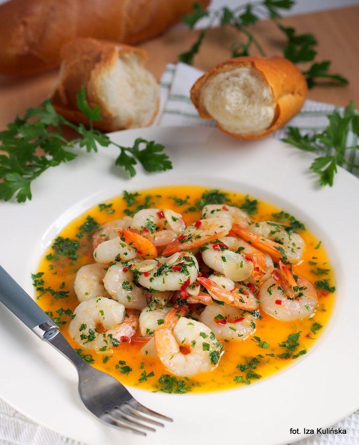 Smaczna Pyza sprawdzone przepisy kulinarne: Szybki obiad. Krewetki tygrysie w maśle z czosnkiem i chilli