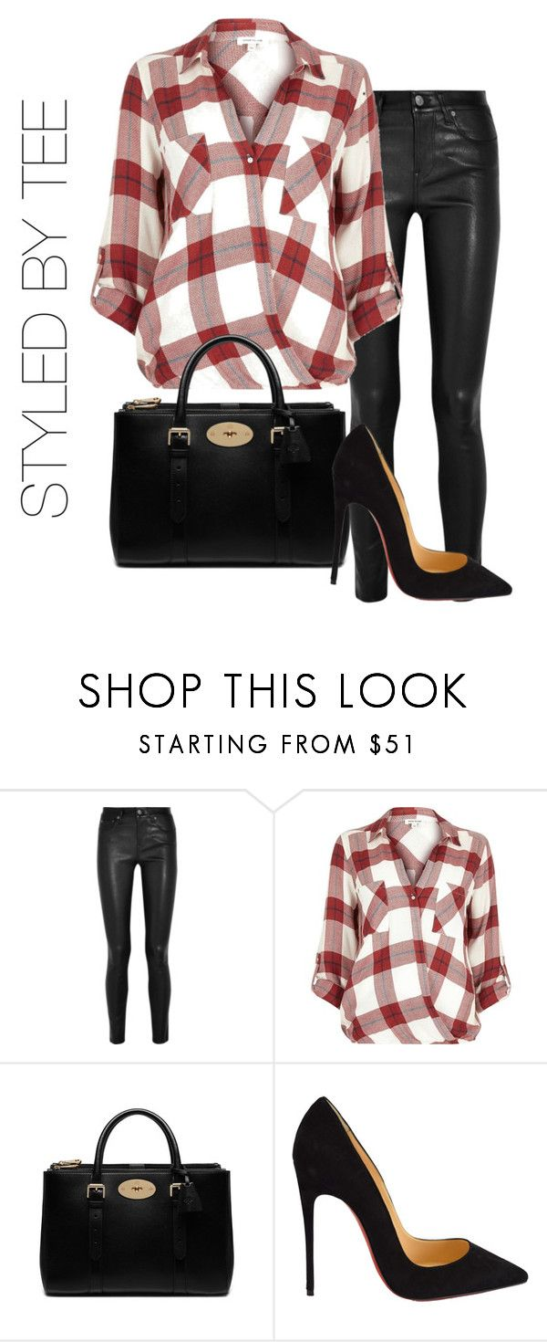 """""""Untitled #57"""" by toniannfratianni on Polyvore featuring Helmut Lang, River Island, Mulberry, Christian Louboutin, women's clothing, women's fashion, women, female, woman and misses"""