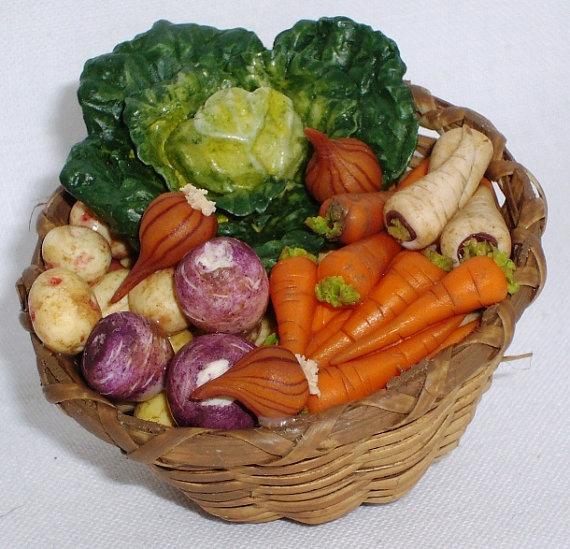Big basket of fresh vegetables for your kitchen scene  12E