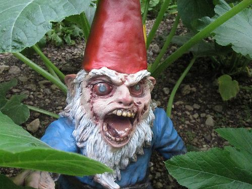 Charming Evil Gnome Midnight In The Garden Of Gnombies Zombie Gnomes